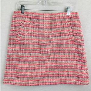 Halogen pink tweed a-line skirt, size 10